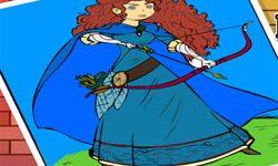 juego Colorea a la Princesa Mérida