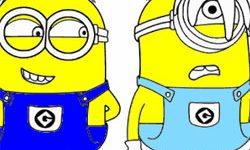 juego Colorea y Dibuja a Los Minions