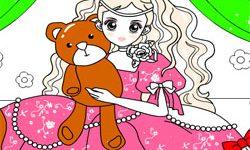 juego Dibujar A la Princesa y Sus Osos de Peluche