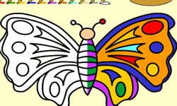 juego Pintar Mariposas del Bosque