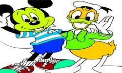 juego Pintar A Mickey y Donald