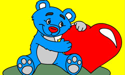 Jugar Pintar oso con corazón