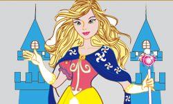 juego Colorear princesa en el castillo