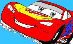 juego Colorear carro rayo mcqueen