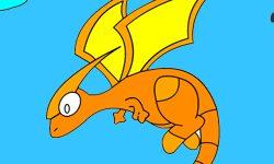 juego Colorear dragones en batalla
