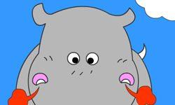 juego Colorear hipopotamo loco