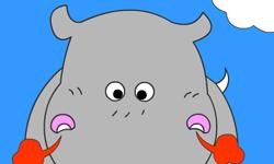 Jugar Colorear hipopotamo loco