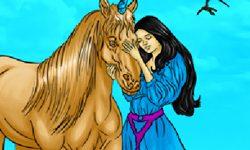 juego Colorear princesa con caballo