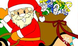 Jugar Colorear a santa claus con regalos