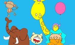 juego Colorear Animales de Zoológico