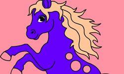 juego Colorear Caballo Saltarin