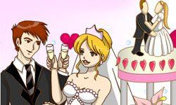 juego Colorear Escena de Matrimonio